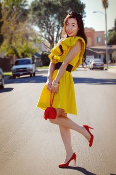 yellow and red outfits - Google Search