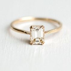 These 9 Minimalist Engagement Rings Prove That Less Can Be More - Classic Emerald Cut {Melanie Casey Jewelry} # Wedding Rings classic These 9 Minimalist Engagement Rings Prove That Less Can Be Classic Engagement Rings, Perfect Engagement Ring, Engagement Ring Cuts, Minimalistic Engagement Ring, Emerald Engagement Rings, Emerald Cut Rings, Wedding Ring Emerald Cut, Engagement Ring Non Traditional, Weding Ring