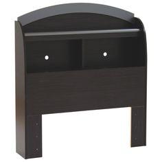 $109 Cosmos Contemporary Bookcase Headboard - Single - Black/Charcoal