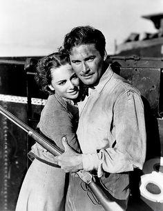 """Olivia de Havilland and Errol Flynn    Publicity still for the 1939 movie """"Dodge City"""""""
