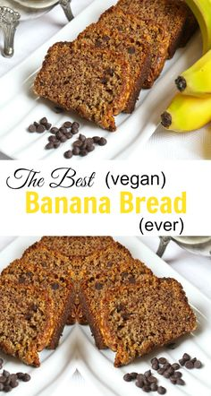 My sister said this is the best banana bread ever! And it's #vegan!