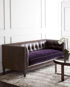 Mulberry Sofa by Old Hickory Tannery at Horchow.