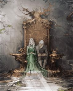 Throne of Glass - Aelin and Rowan - Sarah J. but the stag throne got destroyed Throne Of Glass Fanart, Throne Of Glass Books, Throne Of Glass Series, Throne Of Glass Characters, Book Characters, Rowan And Aelin, Aelin Galathynius, Empire Of Storms, Sarah J Maas Books