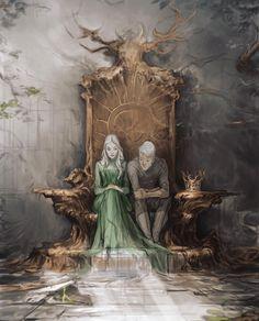 Aelin and Rowan by Charlie Bowater