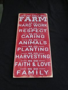 On this Farm we doFarm rules farm family by mockingbirdprimitive, $40.00