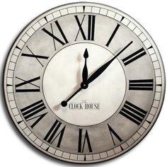 Waltham Parchment Wall Clock - The wall clock Silver Wall Clock, Wall Clock Wooden, Wall Clocks, Big Clocks, Clocks For Sale, Clock Tattoo Design, Wall Clock Design, Extra Large Wall Clock, Shabby Chic Wall Clock