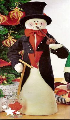 Patrón Nieves Pipa navideño Christmas Snowman, Christmas Home, Christmas Crafts, Christmas Decorations, Xmas, Christmas Ornaments, Holiday Decor, Santa Crafts, Snowman Crafts