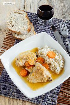 Receta de pollo en salsa de coco picante. Receta con fotografías del paso a paso y recomendaciones de degustación. Recetas de pollo. Recetas exóticas