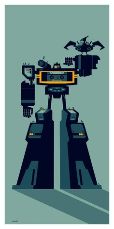 Soundwave and Laserbeak. I love the Genndy Tartakovsky style of this.