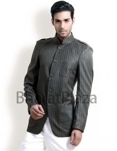 Dark Grey Hunting Coat Item code : SJB5004  http://www.bharatplaza.com/dark-grey-hunting-coat.html
