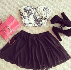 fashion, girly, high heels, love, outfit, top