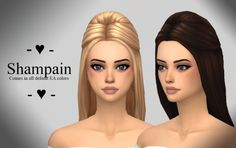 Ivo-Sims: Shampain free hairstyle • Sims 4 Downloads