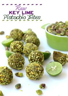 Raw Key Lime Pistachio Bites // thehealthymaven.com #HVF #VeganFridays #vegan