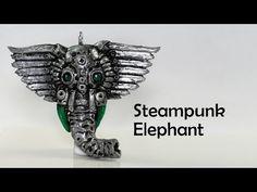 ▶ Steampunk elephant charm - polymer clay TUTORIAL - YouTube