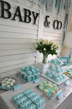TIFFANY & CO Baby Shower Party Ideas | Photo 1 of 11 | Catch My Party