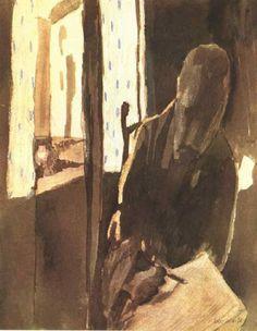 Художник у окна, 1909. Пауль Клее