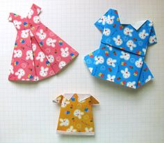 origami dress tutorial... so cute!