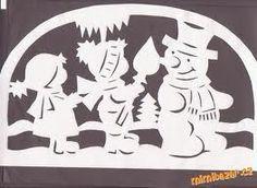 Výsledok vyhľadávania obrázkov pre dopyt vánoční vystřihovánky do oken