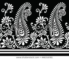 Folk Embroidery Design Discover this and millions of other royalty-free stock photos, illustrations, and vectors in the Shutterstock collection. Thousands of new, high-quality images added every day. Hungarian Embroidery, Embroidery Works, Folk Embroidery, Learn Embroidery, Hand Embroidery Designs, Embroidery Patterns, Paisley Embroidery, Paisley Wallpaper, Paisley Art