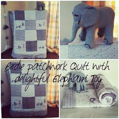 #Birdie #patchwork #Quilt with delightful #Elephant #Toy  #Indian #indianmom #momhub #babygirl #babyboy #Soft #warm #quilt #sleep #toys #cotton #babyindia #cute #grey #newborn  #Birds #White  If you are interested in buying this Quilt, please comment below or write us at connectzoey@gmail.com  or follow us at: https://www.facebook.com/connectZoey