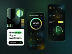 Investment App by Nadya Lazurenko for Fireart Studio on Dribbble App Design, Branding Design, Directory Design, Motion App, Job Opening, Boutique Design, Nintendo Wii Controller, Software Development, Blockchain