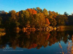 Reflections of Fall by spikerbagger  Autumn Colorful Edsviken Fall Forest Lake Landscape Nature Reflections Sweden Trees Reflections of F