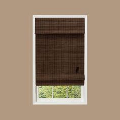Home Decorators Collection, Espresso Flat-Weave Bamboo Roman Shade - 34 in. W x 72 in. L, 0258334 at The Home Depot - Mobile