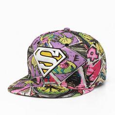 New Fashion Superman Snap Back Snapback Caps Hat Cool Adjustable Gorras  Super Man Hip Hop Baseball Cap Hats For Men Women 85a3df47bfe