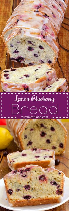 Lemon Blueberry Bread is quick, delicious and easy to make. It's very tasty and sweet and perfect way to start your day! This bread is great combination of blueberries and lemon glaze!