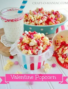 Valentine Sweet and Salty Popcorn | OMcuteness!