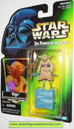 Kenner/Hasbro toys action figures for sale to buy STAR WARS: power of the force / potf II 1997 YODA Card variant info: .02 'collection 2' hologram green card (one of the lower produced variants) NEW -