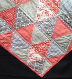 grey modern scrappy quilts