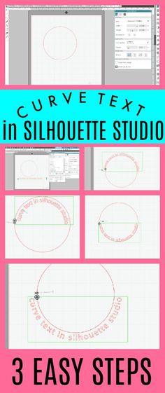 tutorials How to Make Text Curve in Silhouette Studio 3 Step Tutorial Your Own Home Interior Idea Silhouette Cameo Tutorials, Silhouette Cameo Fonts, Silhouette School Blog, Silhouette Design Studio, Silhouette Cutter, Silhouette Curio, Silhouette Cameo Machine, Silhouette Portrait, Silhouette Projects