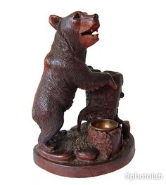 From a private collection. Bern, Black Forest, Switzerland, Lion Sculpture, Carving, Statue, History, Antiques, Dogs