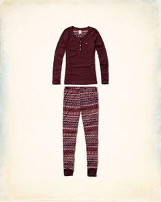 *HOLLISTER Co. || Patterned sleep set | Conjunto pijama estampado
