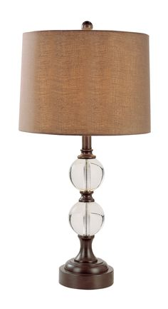 Trans Globe 1 Light Table Lamp with Brown Finish - Clear crystal and wood finish lookLamp base made of resinTraditional office decorSpecifications: UPC: 736916589505 Brown Table Lamps, Light Table, Traditional Table Lamps, One Light, Clear Crystal, Hue, Globe, Bronze