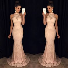 New Arrival Prom Dress,Modest Prom Dress,lace long mermaid prom dresses 2017 elegant formal evening gowns