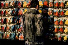 Flower market along the banks of the Seine. Color Photography, Film Photography, Street Photography, Stephen Shore, William Eggleston, Saul Leiter, Magnum Photos, Vivian Maier, Photographer Portfolio