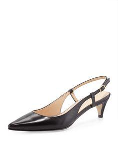 Cole Haan - Juliana Low-Heel Slingback Pump Women's Pumps, Pump Shoes, Celebrity Shoes, Shoe Sites, Pink Heels, Slingback Pump, Cole Haan Shoes, Material Girls, Leather Pumps