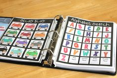 Road Trip Binder for Kids...links to pages for FREE printables are shown at bottom of page. Many more photos and ideas of what to include.