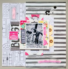 {Hip Kit Club February kits :: 2 layouts}