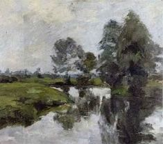 On the banks of the Wumme near Fischerhude by Helmuth Westhoff in Fine Art on October 2004 at the null null sale lot 390 Auction, Fine Art, Banks, Painting, Painting Art, Paint, Draw, Paintings, Visual Arts