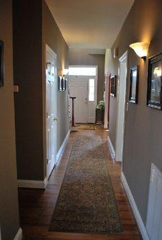 Den Hallway Paint Bennington Grey By Benjamin Moore
