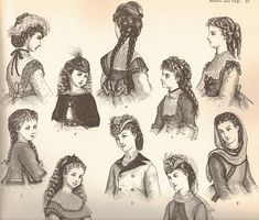 Mute the silence: Victorian Hairstyles