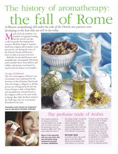 The history of Aromatherapy the fall of Rome