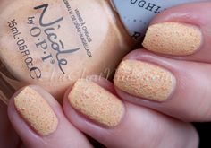 "This is @Nicole Novembrino by OPI ""Sand in my shoe"" Roughles"