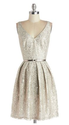 Silver Belle of the Ball dress- Modcloth