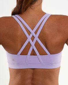 Additional motivation: looking cute while sweating: Sports bra, Lavender @ lululemon--they have many fun/unique options for various workouts