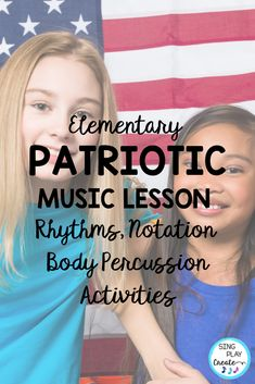 Patriotic Rhythm Activities for Music Class is all about body percussion, rhythm patterns, playing instruments and learning beginning rhythms. . Beginning level activities for quarter and eighth notes. Patriotic Rhythm Activities are perfect for any Patriotic Holiday Music lessons. Great for preparing, presenting and practicing and assessment activities. #veteransdaymusic, #musicedveteransdaylessons, #musiceducationveteransdaylessons, #orffveteransdaysongs #singplaycreate…