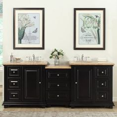 Shop For Silkroad Exclusive 90.5 Inch Travertine Stone Top Bathroom Double  Sink Modular Vanity.